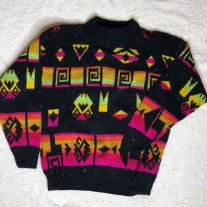 Colorful 1990 Vintage Sweater